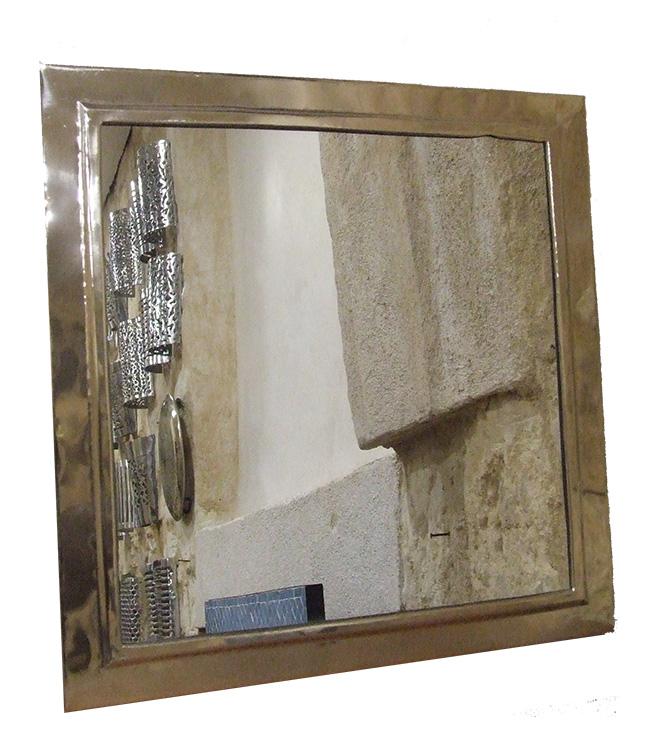miroir artisanal carré